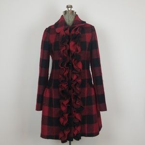 """Anthropologie Tracy Reese """"Birling Ruffle"""" Coat"""